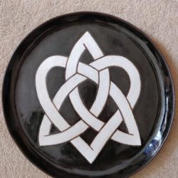 Platter with personalised inscription on reverse - by special arrangement